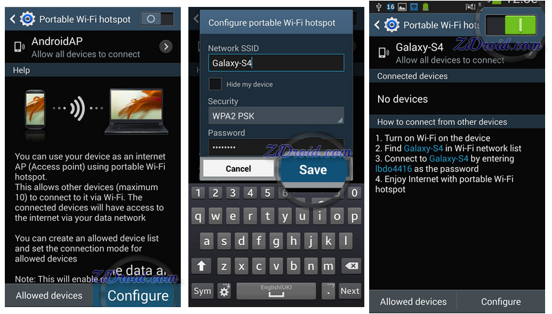 how to change hotspot name on galaxy s4