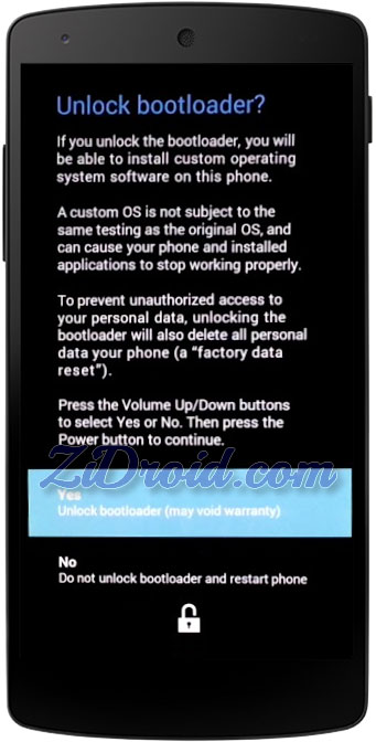 Unlock Nexus5 Bootloader