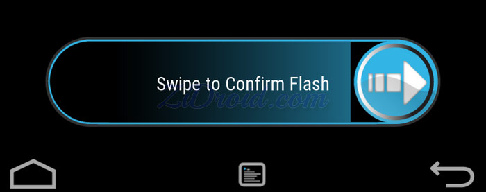 TWRP Swipe to Confirm Flash