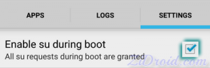 Enable su During Boot