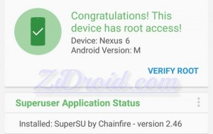 Root Checker Nexus 6 Android M