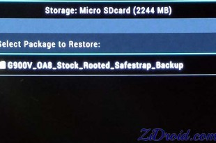 Select Package to Restore