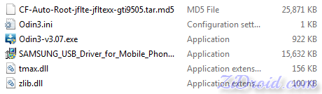 CF Auto Root files for GT-I9505