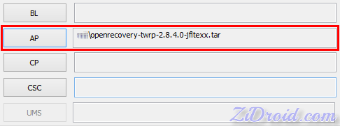 Flash TWRP Recovery by Odin3