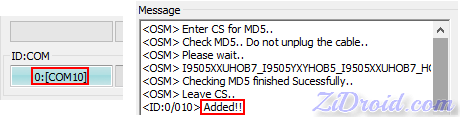 I9505 IDCOM and Added Odin3