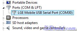 LG Mobile USB Serial Port