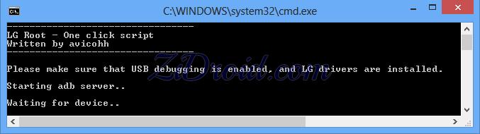 One Click Root LG Script Start