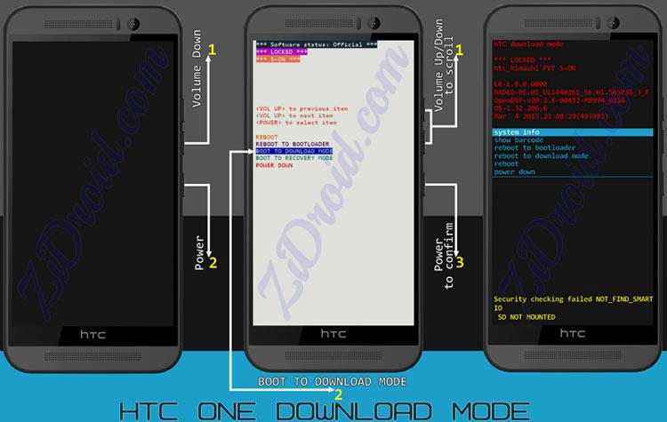 HTC One M9 Down Mode