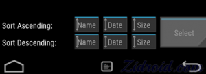 TWRP Select button
