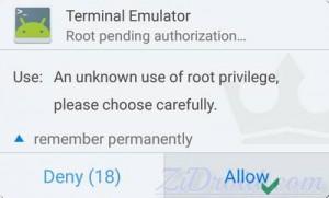 Terminal Kinguser Permission