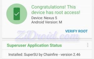 Root Checker Nexus 5 Android M
