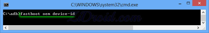 fastboot oem device-id