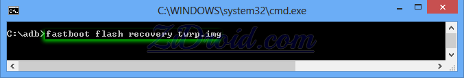 Fastboot Flash Recovery TWRP.img